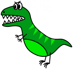 Extinct clipart dinosaur cartoon