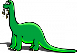 Extinct clipart green dinosaur
