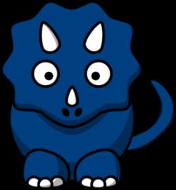 Stegosaurus clipart blue