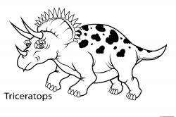 Triceratops clipart coloring page