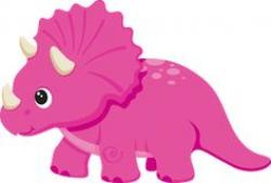 Triceratops clipart pink
