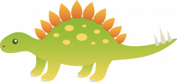 Extinct clipart stegosaurus