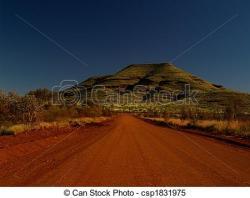 Dirt Road clipart australian