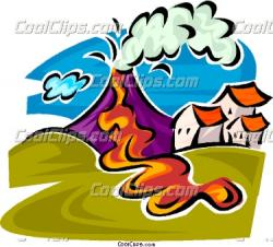 Volcano clipart natural disaster