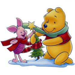 Merry Christmas clipart pooh