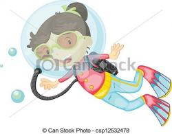 Diving clipart female