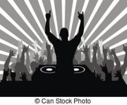 Club clipart dj party