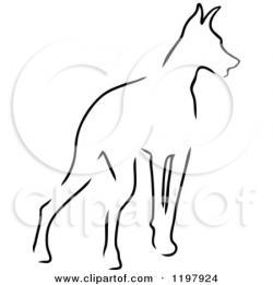 Doberman Pinscher clipart dog outline