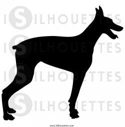 Doberman Pinscher clipart dog profile
