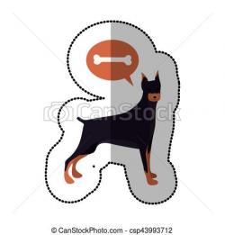 Doberman Pinscher clipart dog shadow