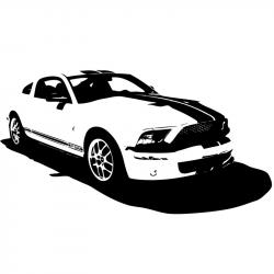 Ford clipart black and white