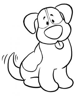 Perro clipart black and white