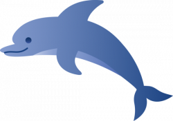 Dolphines clipart teal
