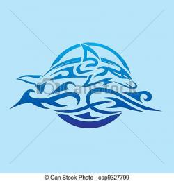 Dolphins clipart abstract