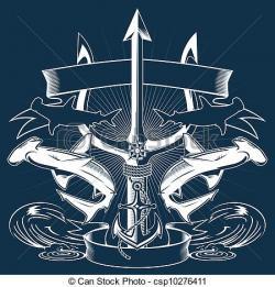 Drawn anchor trident