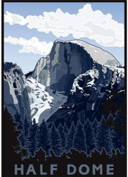 Half Dome clipart Half Dome Drawing