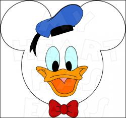 Donald Duck clipart ear