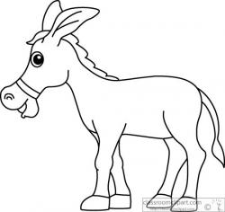 Mule clipart black and white