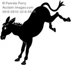Mule clipart donkey kick