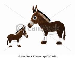 Donkey clipart foal