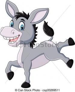 Mule clipart happy