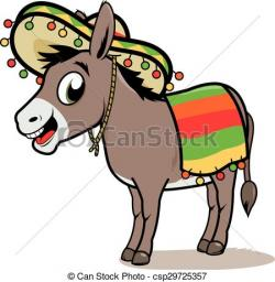 Mule clipart mexican donkey
