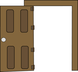 Open Door clipart