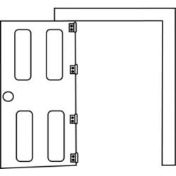 Open Door clipart black and white