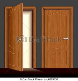 Doorstep clipart wooden door