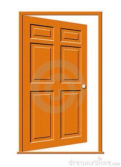 Doorway clipart wooden door