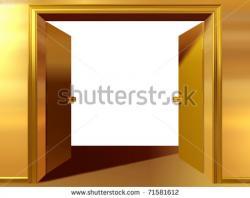 Doorway clipart double door