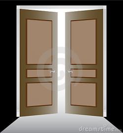 Doorway clipart closet door