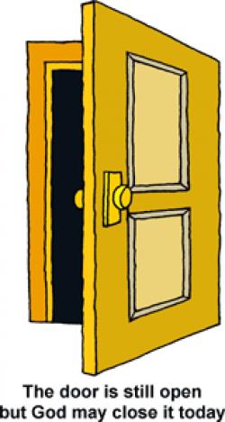 Doorway clipart opening door