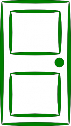 Doorstep clipart green door