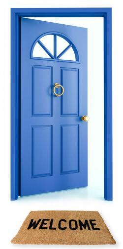 Doorway clipart front door