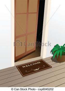 Door clipart doorstep