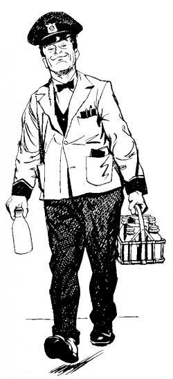 Doorstep clipart milkman