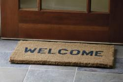 Doorstep clipart welcome