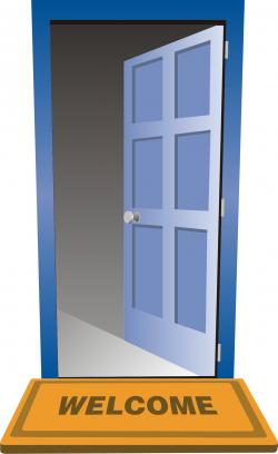 Doorstep clipart door ajar
