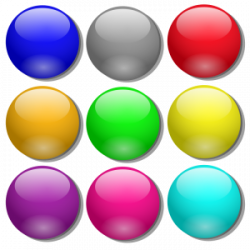 Marbles clipart nine
