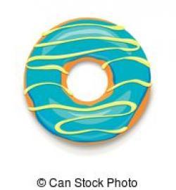 Doughnut clipart blue