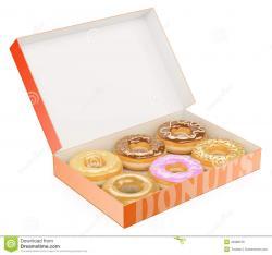 Doughnut clipart box donut