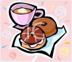 Hot Chocolate clipart donut