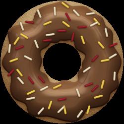 Doughnut clipart chocolate donut