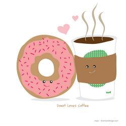 Dunkin Donuts clipart cute