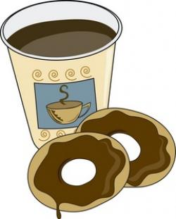 Bagel clipart coffee and
