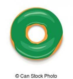 Doughnut clipart green