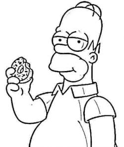 The Simpsons clipart black and white