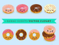 Doughnut clipart kawaii