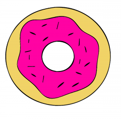 Doughnut clipart pink